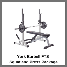 York Barbell FTS Squat and Press Package