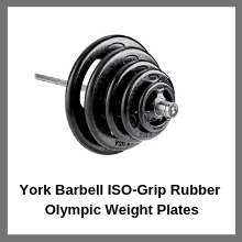 York Barbell ISO-Grip Rubber Olympic Weight Plates