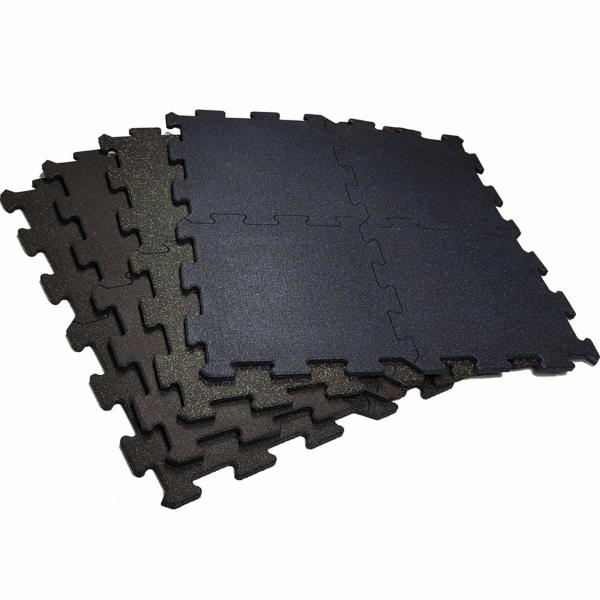 Coloured Fleck Interlocking 1m x 1m Rubber Tile