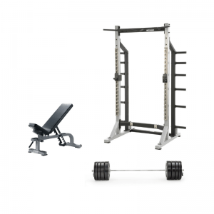 York Barbell STS Half Rack Bundle