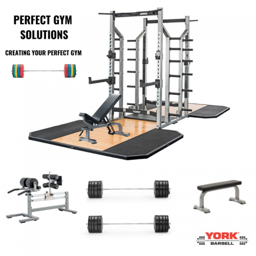 York Barbell Varsity Double Half Rack Package