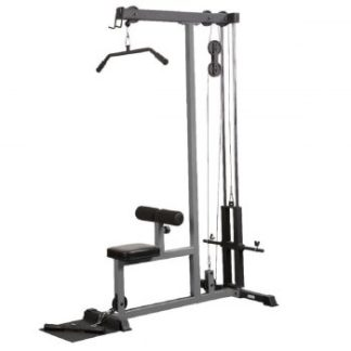 York Barbell FTS Lat Pull Down and Low Row - Grey.