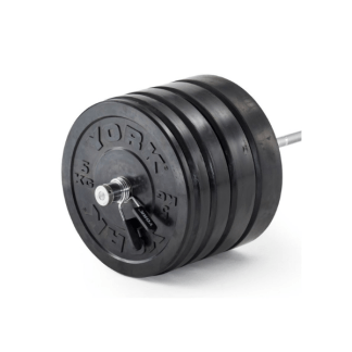 York Barbell Solid Rubber Black Bumper Plate Sets