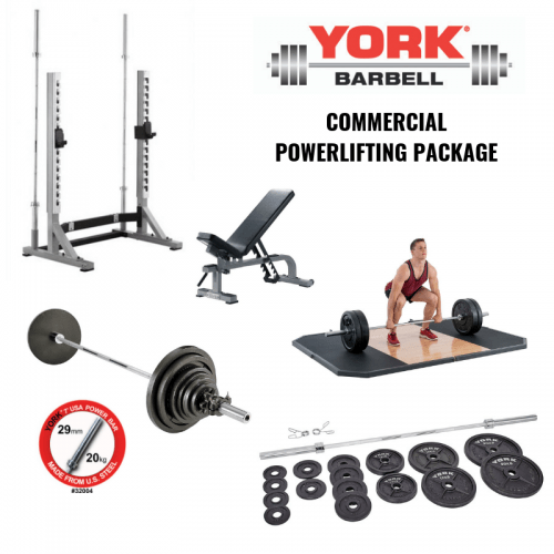 York Barbell Commercial Powerlifting Package