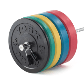 York Barbell Solid Rubber Coloured Bumper Plate Sets