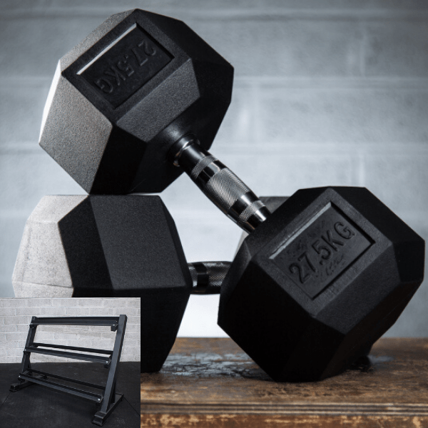 UKSF Rubber Hex Dumbbell Sets