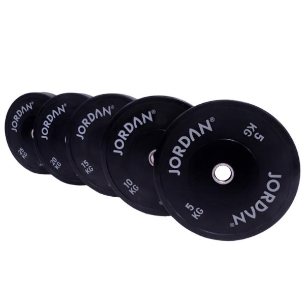 Jordan Fitness HG Black Rubber Bumper Plate Sets