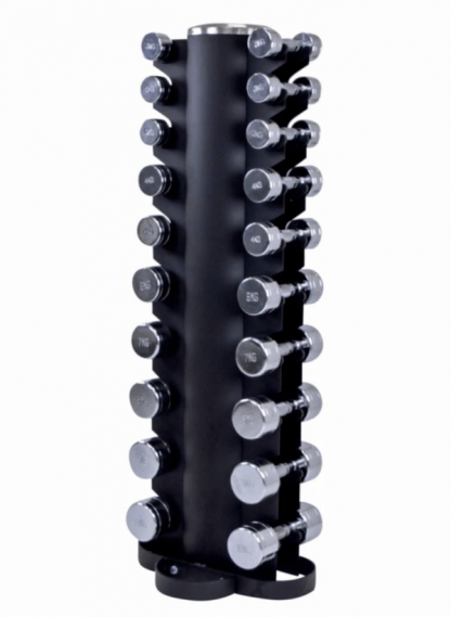 Lifemaxx Dumbbell Rack with Chrome Dumbbell Set