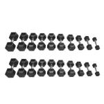 PGS Rubber Hex Dumbbell Set 2.5-30kg (1)
