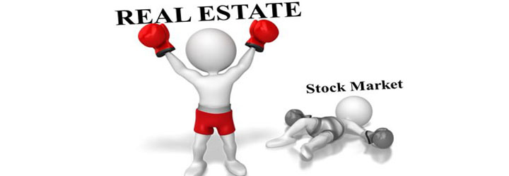 Real estates always beat stock market.