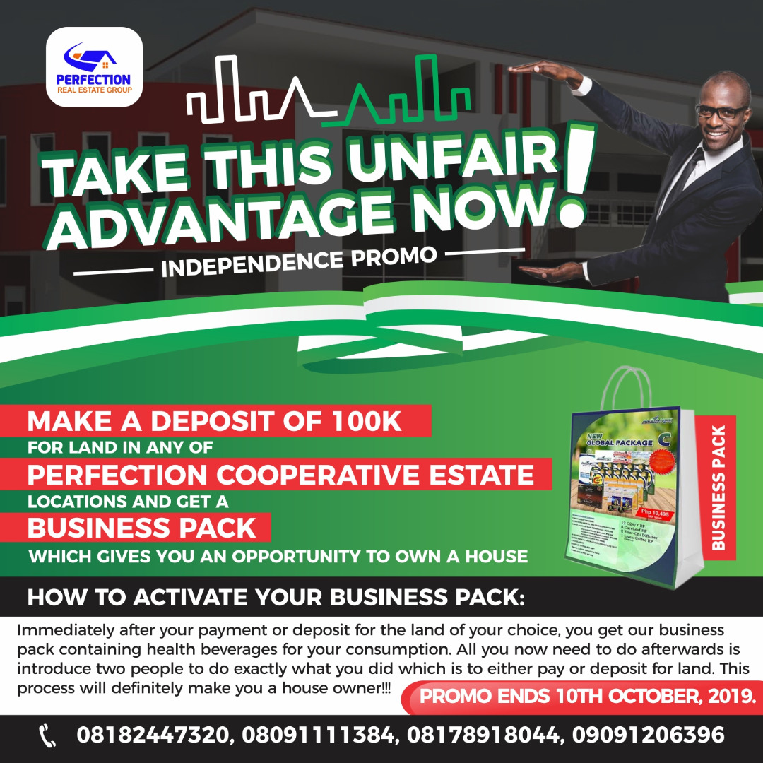 Perfection Real Estate Launches Nigeria Independence Day Promo 2019 In Grand Style