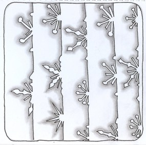 Snowflakes - 1 - outline