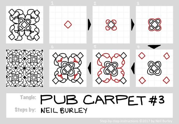 pub carpet #3 tangle pattern