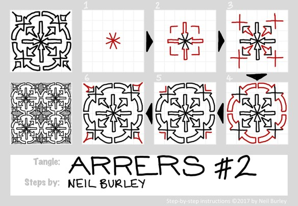 Arrers #2 tangle pattern