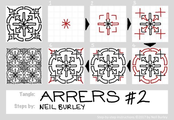 Arrers #2 tangle pattern