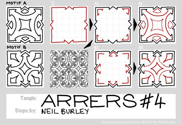 Arrers 4 tangle pattern