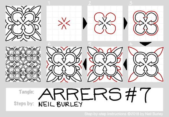 Arrers 7 tangle pattern