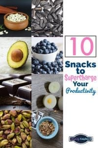 10 snacks to supercharge your productivity - save on pinterest