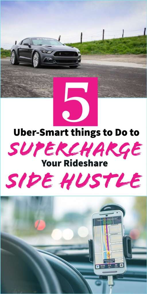 5 Uber smart things to do to Supercharge your Rideshare Side Hustle - #uber #sidehustle #money #career