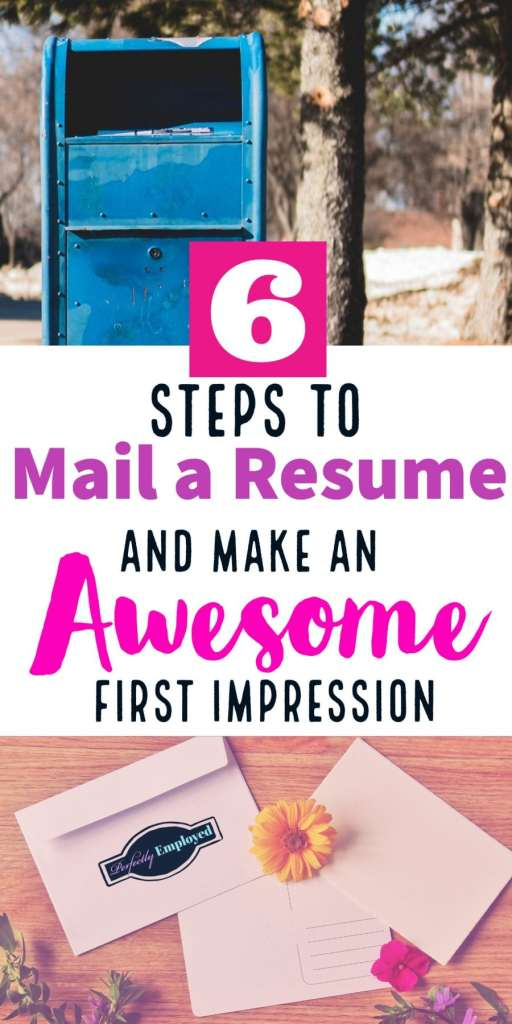 6 Steps to Mail a Resume and Make an Awesome First Impression - #resume #waitaminutemrpostman #mail #snailmail #career #careeradvice
