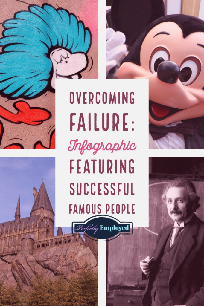 Overcoming Failure Infographic - Successful famous people got over it, and you can too!!