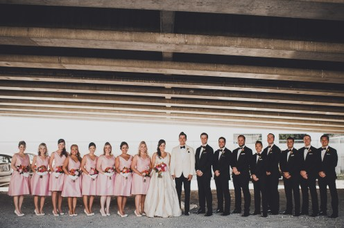 The Foundry by Herban Feast wedding in Seattle | Mid-century modern bridal party | Perfectly Posh Events | Carina Skrobecki Photography