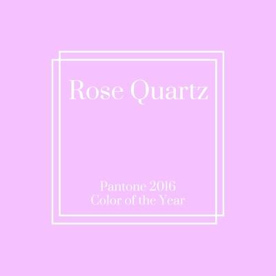 Pantone 2016 Color of the Year: Rose Quartz & Serenity