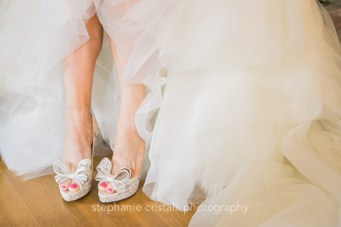 Thornewood Castle Wedding in Seattle | Goregous, big bow bridal shoes | Perfectly Posh Events, Seattle Wedding Planner | Stephanie Cristalli Photography