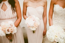 DeLille Cellars wedding in Woodinville   Blush bridesmaids gowns with blush and white bouquets   Perfectly Posh Events   Seattle Wedding Planner   Andria Lindquist Photography   Butter & Bloom
