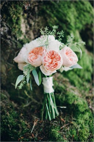 Glen Acres Golf Club wedding in Seattle | Blush garden rose bouquet with greenery | Perfectly Posh Events, Seattle Wedding Planner | Barrie Anne Photography | Butter & Bloom