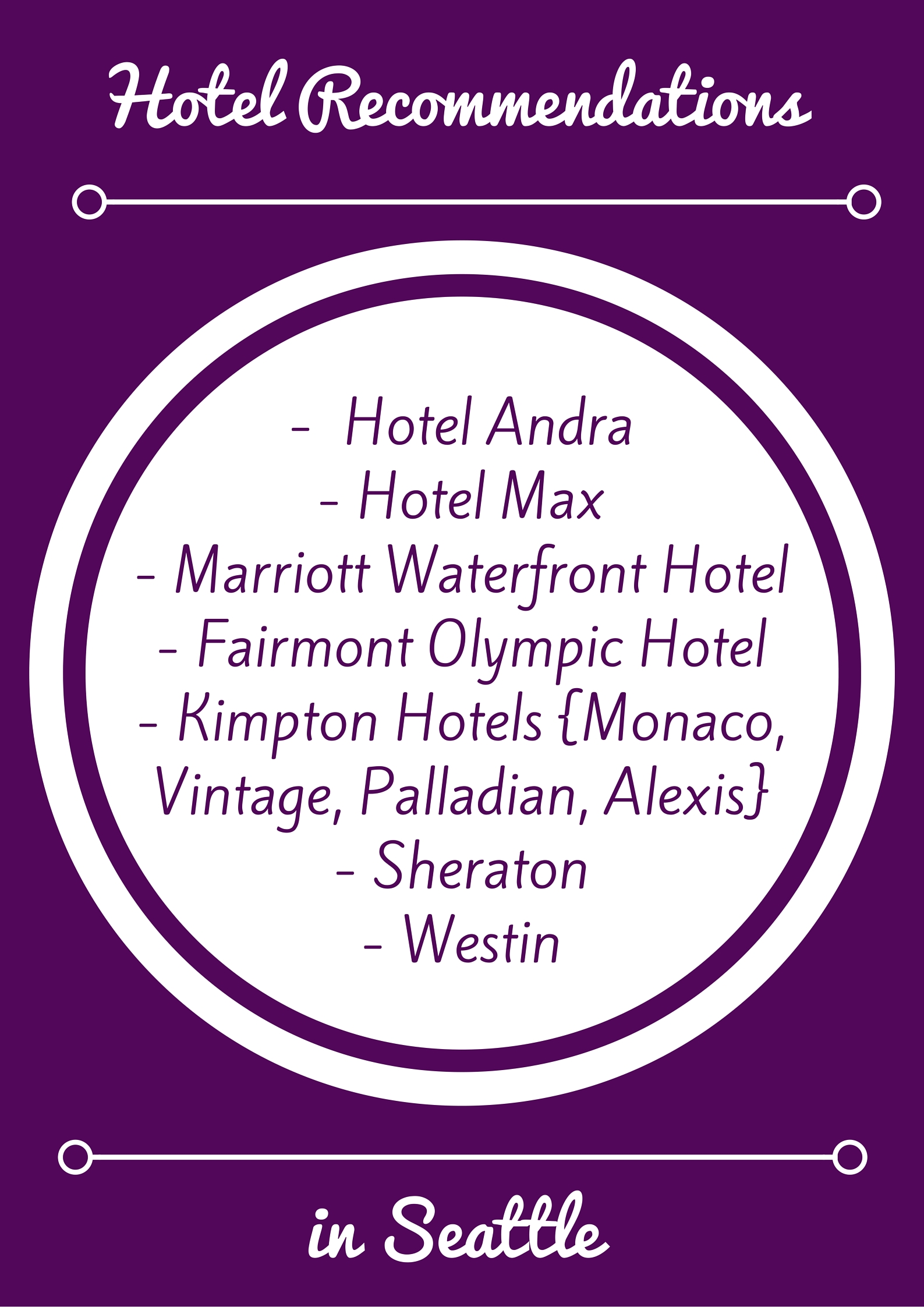 Room Block Hotel Recommendations in Seattle | Perfectly Posh Events
