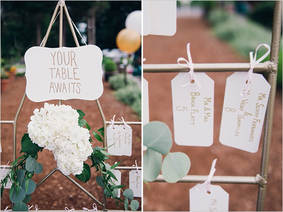 Glen Acres Golf Club wedding in Seattle   Romantic table assignment sign   Perfectly Posh Events, Seattle Wedding Planner   Barrie Anne Photography