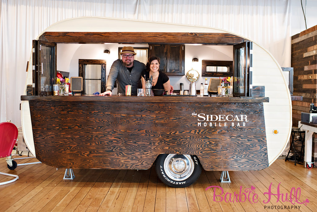 Seattle Wedding Show, I Do Sodo | Traveling vintage bar, The Sidecar Mobile Bar | Perfectly Posh Events | Barbie Hull Photography | The SideCar Mobile Bar