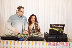 Seattle Wedding Show, I Do Sodo | Bamboo Beats DJ playing Bossa Nova music at our Mid-Century party | Perfectly Posh Events | Barbie Hull Photography | Bamboo Beats