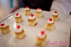 Seattle Wedding Show, I Do Sodo | Mid-Century inspired pineapple upside down cake bites | Perfectly Posh Events | Barbie Hull Photography | City Catering