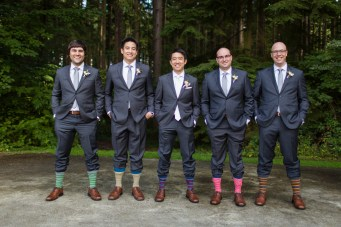 Robinswood House Wedding in Bellevue |Groomsmen wearing funny socks for wedding | Perfectly Posh Events, Seattle Wedding Planner | Courtney Bowlden Photography
