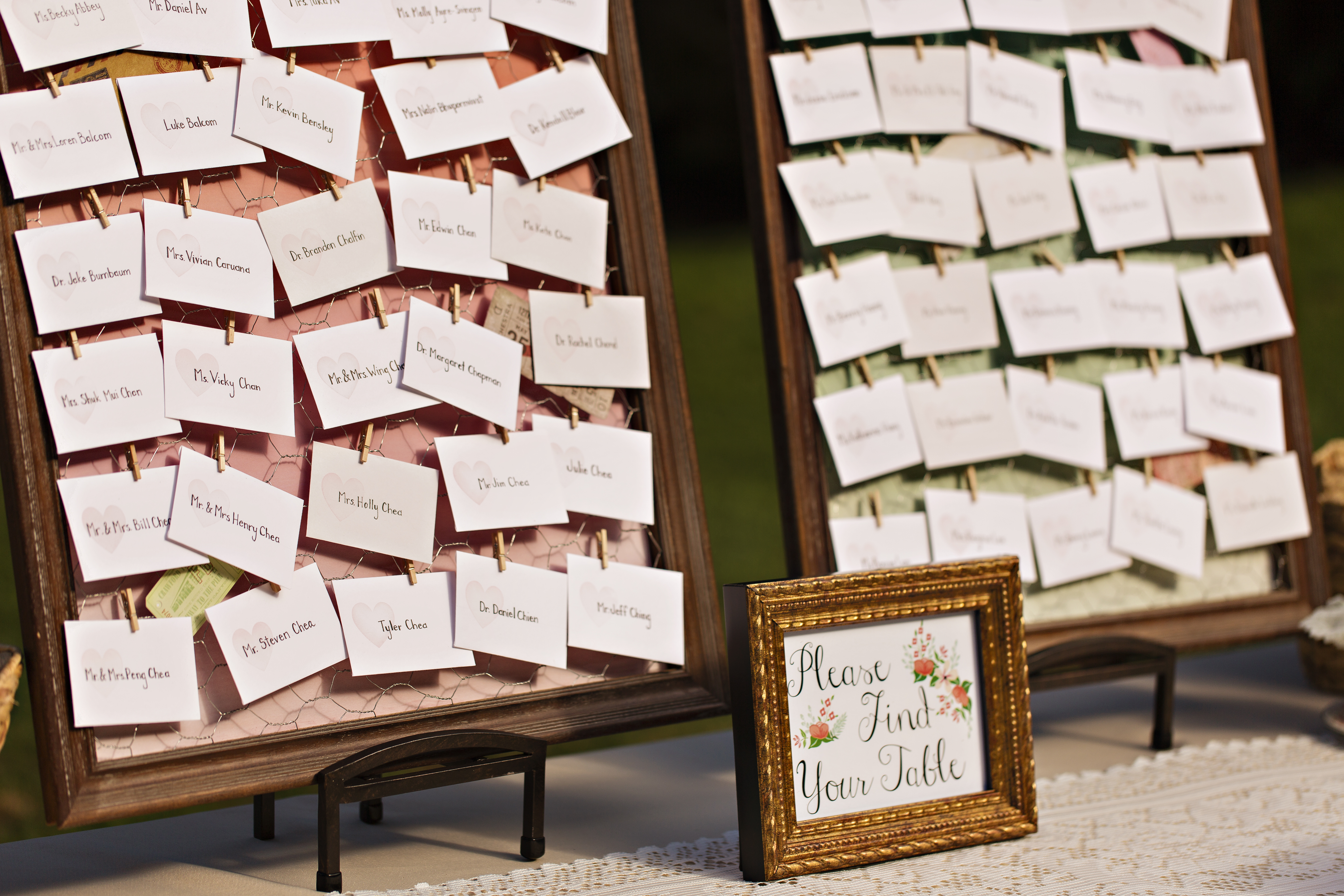 Robinswood House Wedding in Bellevue | Whimsical escort card layout with chicken wire | Perfectly Posh Events, Seattle Wedding Planner | Courtney Bowlden Photography
