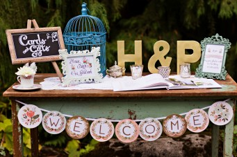 Robinswood House Wedding in Bellevue | Rusticated whimsical guest table | Perfectly Posh Events, Seattle Wedding Planner | Courtney Bowlden Photography
