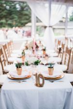 Glen Acres Golf Club   Seattle   Seattle Wedding Planner   Perfectly Posh Events   Barrie Anne Photography   Gold table setting with pink candles, succulents and gold chargers