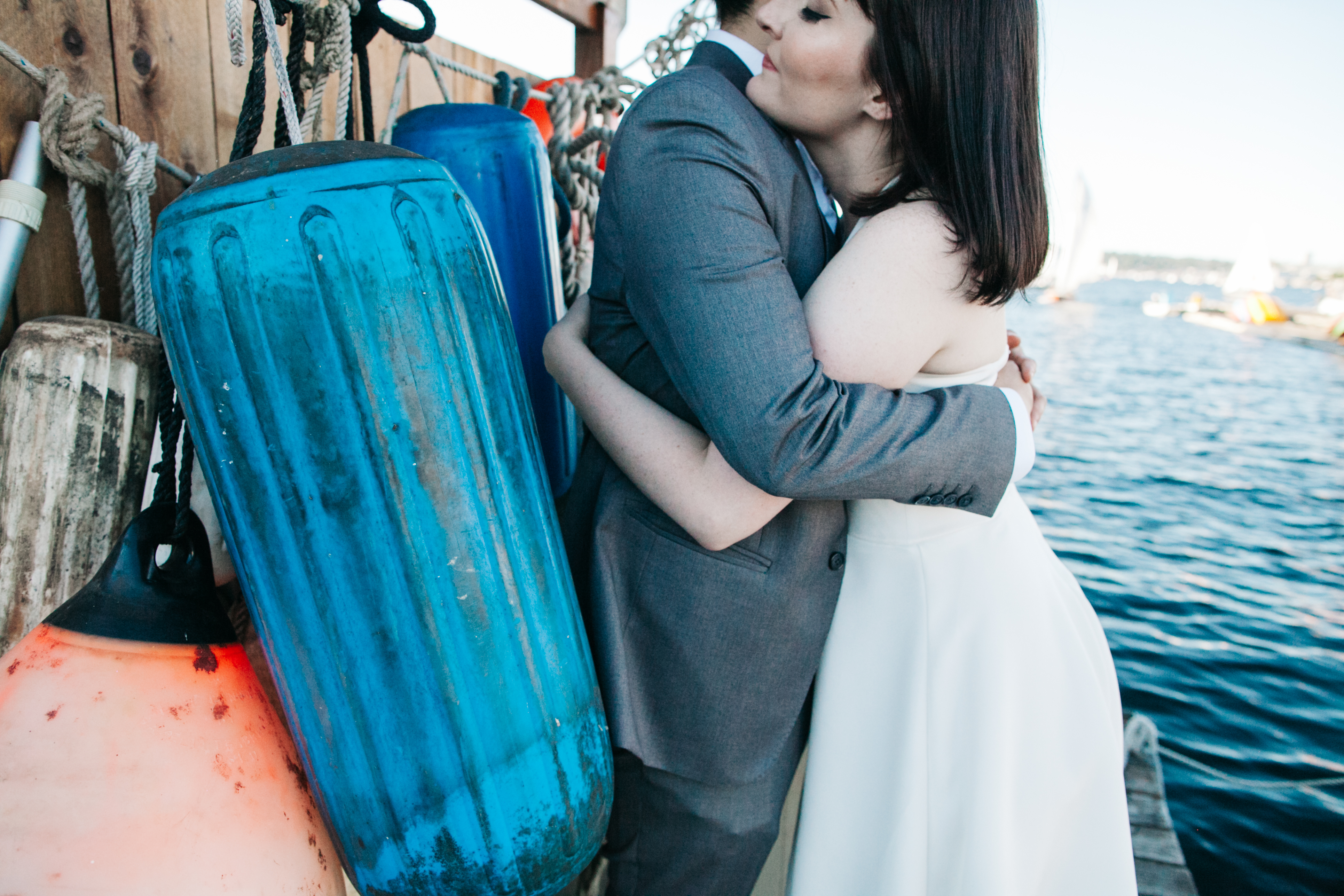 Center for Wooden Boats wedding in Seattle | Seattle boat marina wedding picture | Perfectly Posh Events, Seattle Wedding Planning | Kathryn Moran Photography