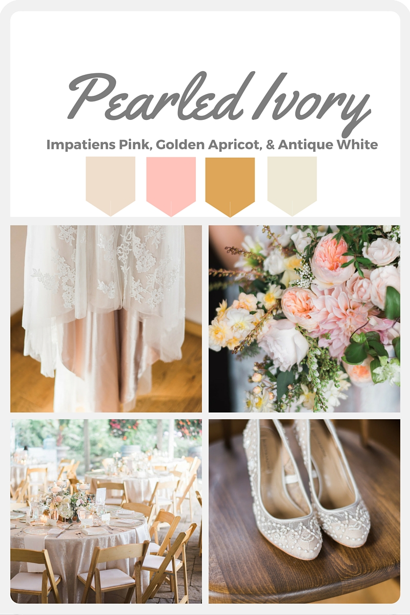 White Wedding Color Swatches from Pantone | Real wedding with Pantone color, Pearled Ivory | Coordinated by Perfectly Posh Events | Daniel Usenko Photography | Floral Design by Flora Nova Design