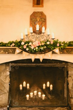 DeLille Cellars wedding in Woodinville | Fireplace mantle decor | Perfectly Posh Events | Lucid Captures Photography | Bella Signature Design