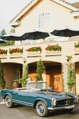DeLille Cellars wedding in Woodinville   Mercedes convertible getaway car   Perfectly Posh Events   Lucid Captures Photography