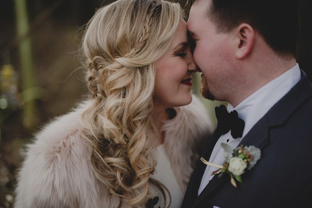 Cedarbrook Lodge wedding in Seattle | Wintery boutonniere with dusty miller | Perfectly Posh Events | Carly Bish Photography | Butter & Bloom