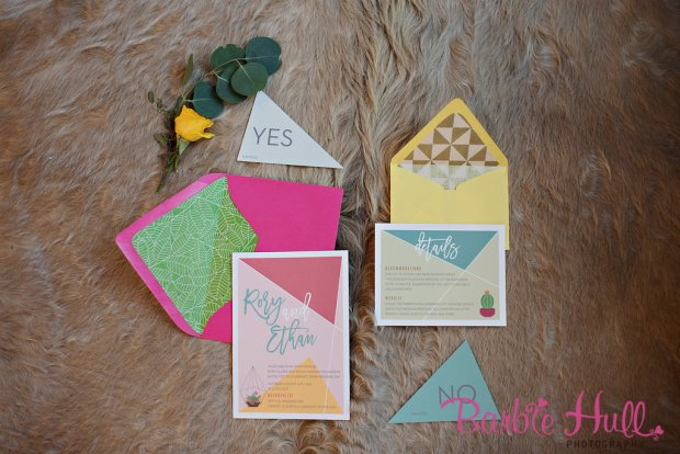 Seattle Wedding Show, I Do Sodo   Colorful invitation envelopes   Perfectly Posh Events   Barbie Hull Photography   Songbird Paperie