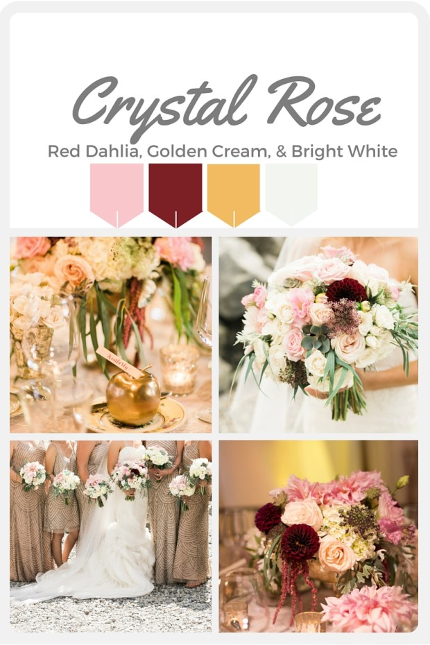 Pink Wedding Color Swatches from Pantone | Real wedding with Pantone color, Crystal Rose | Designed + Coordinated by Perfectly Posh Events | Kimberly Kay Photography | Floral Design by Floressence