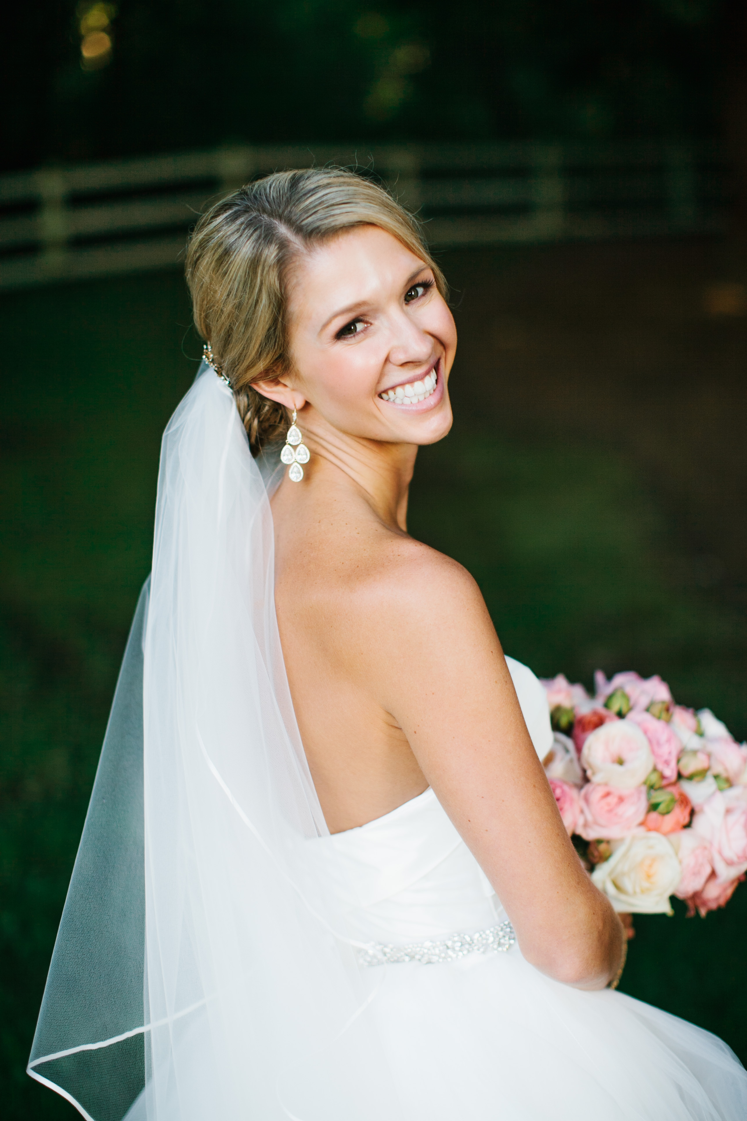 DeLille Cellars Wedding in Woodinville, WA | Bride with light pink floral bouquet | Perfectly Posh Events | Lucid Captures Photography | Flora Nova Design