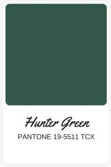 Shades of Green to use in your wedding   Pantone Color, Hunter Green   Perfectly Posh Events
