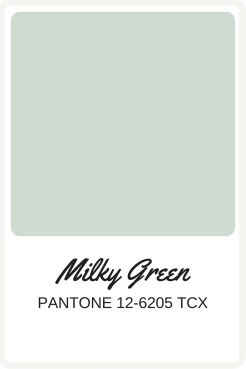 Shades of Green to use in your wedding   Pantone Color, Milky Green   Perfectly Posh Events