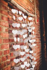 DIY wedding decor with paper hearts | Golden Gardens Bathouse Wedding | Perfectly Posh Events, Seattle Wedding Planner | Andria Linquist Photography | Holly + Dustin Wedding // © Andria Lindquist 2014